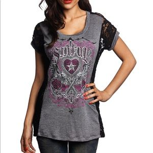 Affliction Sinful sexy Top size M New!